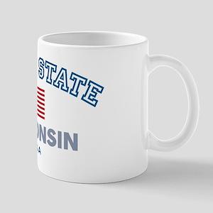Wisconsin-Proud State-Flag: Mug
