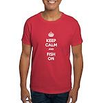 Keep Calm and Fish On Dark T-Shirt