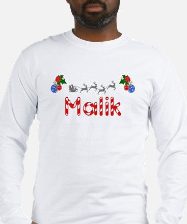 Malik, Christmas Long Sleeve T-Shirt