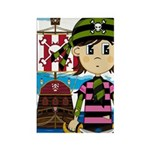 Bandana Pirate and Ship Rectangle Magnet (100 Pk)