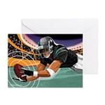 Football Catch Greeting Cards (Pk of 10)