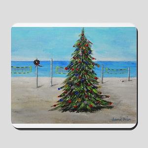 Christmas Tree at the Beach Mousepad