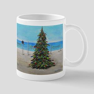 Christmas Tree at the Beach Mug