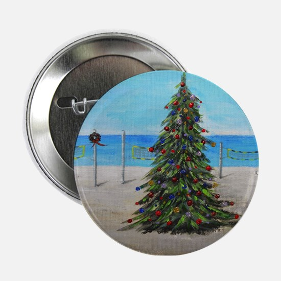 """Christmas Tree at the Beach 2.25"""" Button"""