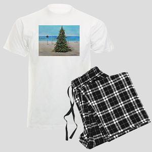 Christmas Tree at the Beach Men's Light Pajamas
