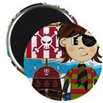 "Eyepatch Pirate and Ship 2.25"" Magnet (10 pac"
