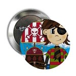 "Eyepatch Pirate and Ship 2.25"" Button"