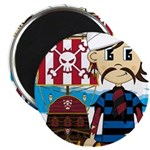 Turban Pirate and Ship Magnet