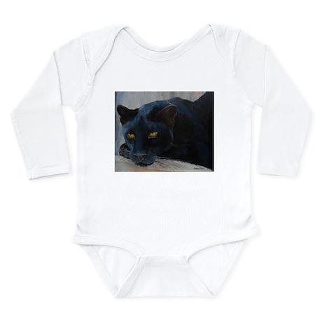 Black Cat Long Sleeve Infant Bodysuit
