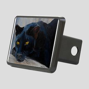 Black Cat Rectangular Hitch Cover