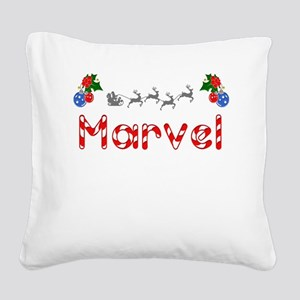 Marvel, Christmas Square Canvas Pillow