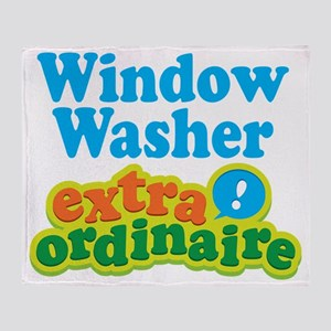 Window Washer Extraordinaire Throw Blanket