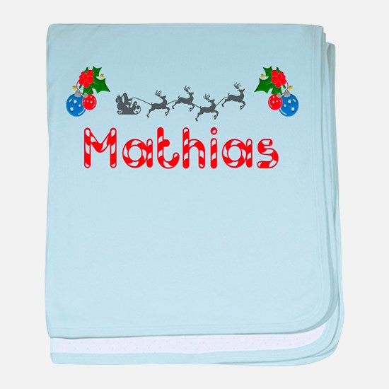 Mathias, Christmas baby blanket