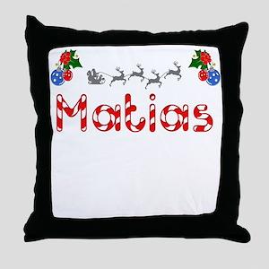 Matias, Christmas Throw Pillow