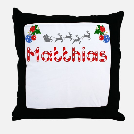 Matthias, Christmas Throw Pillow