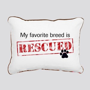 My Favorite Breed Is Rescued Rectangular Canvas Pi