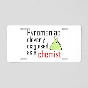 'Pyromaniac' Aluminum License Plate