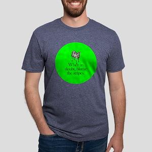 zebra_roundorn Mens Tri-blend T-Shirt