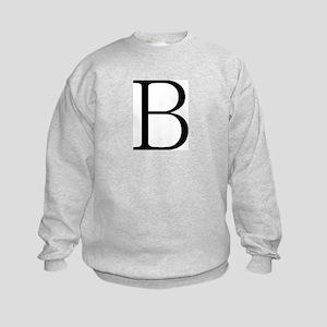 Greek Letter Beta Kids Sweatshirt