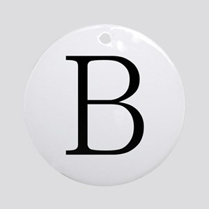 Greek Letter Beta Ornament (Round)