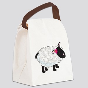 Little Lamb Canvas Lunch Bag