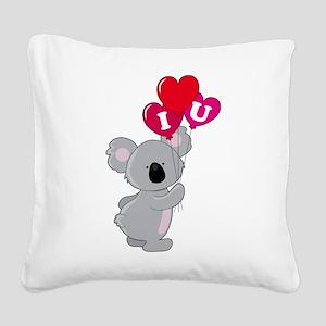 koala heart balloons cp Square Canvas Pillow