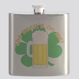 shamrock and beer cp Flask
