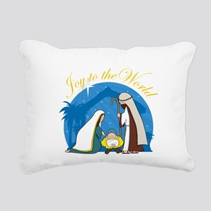 nativity scene cp Rectangular Canvas Pillow