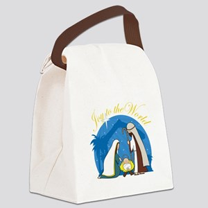 nativity scene cp Canvas Lunch Bag
