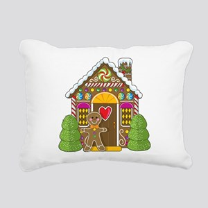 gingerbread house Rectangular Canvas Pillow