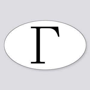 Greek Letter Gamma Oval Sticker
