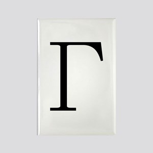 Greek Letter Gamma Rectangle Magnet