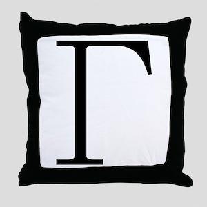 Greek Letter Gamma Throw Pillow