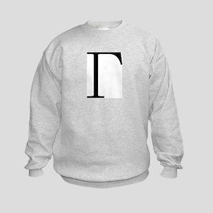 Greek Letter Gamma Kids Sweatshirt