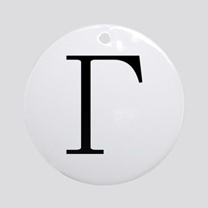 Greek Letter Gamma Ornament (Round)