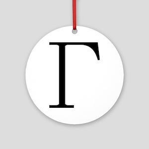 Greek Letter Gamma Ornament (Round)