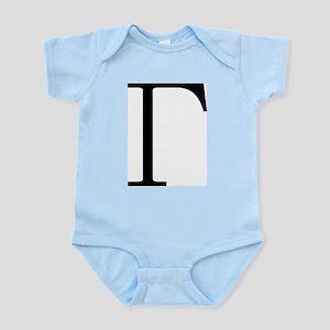 Greek Letter Gamma Infant Bodysuit