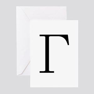 Greek Letter Gamma Greeting Cards (Pk of 10)