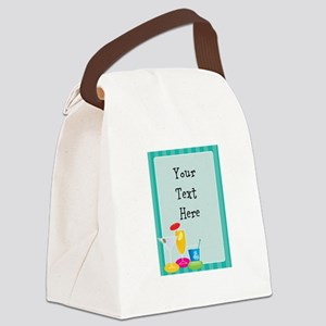 Cocktail Border Canvas Lunch Bag