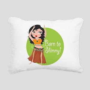 born to shimmy Rectangular Canvas Pillow