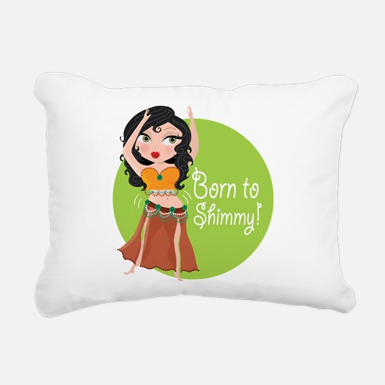 born to shimmy.png Rectangular Canvas Pillow
