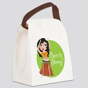born to shimmy Canvas Lunch Bag