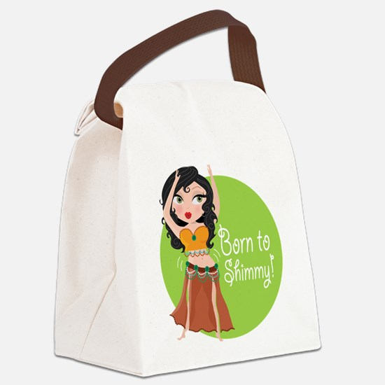 born to shimmy.png Canvas Lunch Bag
