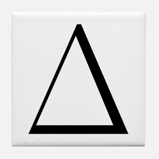 Greek Letter Delta Tile Coaster