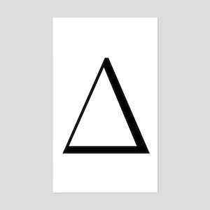 Greek Letter Delta Rectangle Sticker