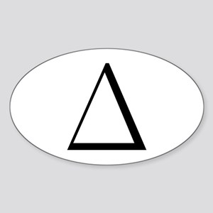 Greek Letter Delta Oval Sticker