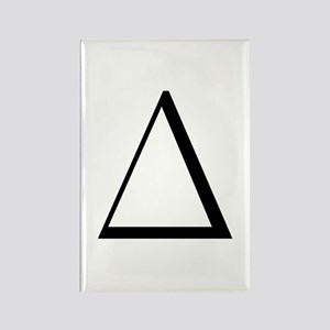 Greek Letter Delta Rectangle Magnet