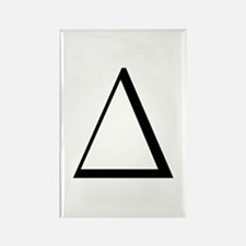 triangular greek letter triangle magnets triangle refrigerator magnets cafepress 42179