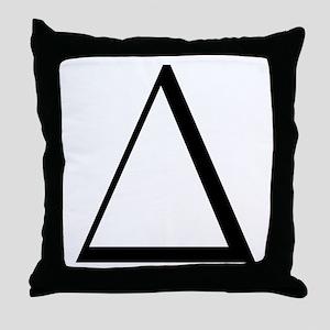 Greek Letter Delta Throw Pillow