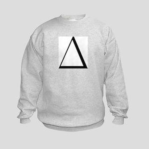 Greek Letter Delta Kids Sweatshirt